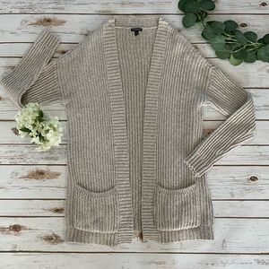 EXPRESS knit cardigan sweater, tan, medium